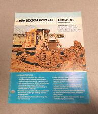 Komatsu  D85P-18 Swampdozer Brochure Manual KAC-D85P-01
