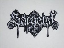 SARGEIST BLACK METAL IRON ON EMBROIDERED PATCH
