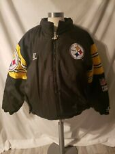 NFL Logo Athletic Pro Line Black Yellow Jacket Pittsburgh Steelers XL
