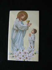 Vintage Religious Print Jesus Child's 1st First Communion Standing Frame