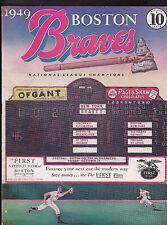 1949 Boston Braves vs. NY Giants Baseball Scorecard/Program Signed by John Mize