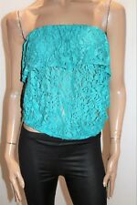 SPORTSGIRL Brand Aqua Strapless Frill Bust Lace Top Size M LIKE NEW #AN02