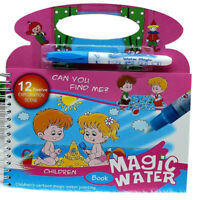 Magic Water Drawing Book Reusable Color Doodle Paint Board Kids Educational Toy
