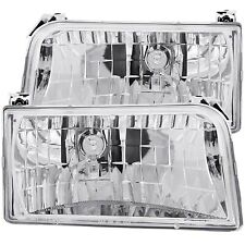 Anzo Crystal Projector Headlights Chrome For Ford F150 F250 F350 Bronco 111247
