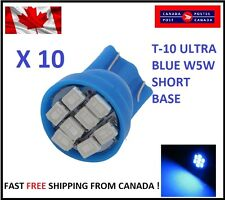 10X Blue Xenon LED T10 8SMD/5050/194Bulbs Cluster W5W license Plate Short Base
