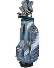 New Callaway Solaire 11 pc Complete Ladies Golf Club set Niagara Blue Cart Bag