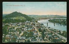 1909 Postcard View From Bridgeport Hill Oh Showing Wheeling Wv B4284