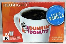 Dunkin Donuts French Vanilla Coffee K Cup Cups Keurig 10 ct