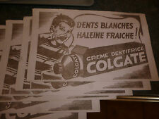 2 Anciens  Buvard s du Dentifrice COLGATE Teeth Pas Ink Blotter