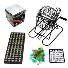 BINGO GAME SET w METAL CAGE CARDS BALLS complete games play fun new