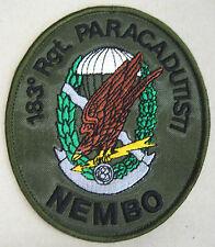 """Toppa/Patch Commemorativa """"183° REGGIMENTO PARACADUTISTI NEMBO"""" - (Rarità)"""