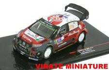 NEWS CITROEN C3 WRC 5° RALLYE MEXIQUE 2018 SEBASTIEN LOEB IXO AU 1/43