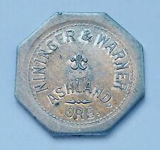1915 NININGER & WARNER ~ ASHLAND, OREGON ~ GOOD FOR 12-1/2 CENTS ~ TRADE TOKEN