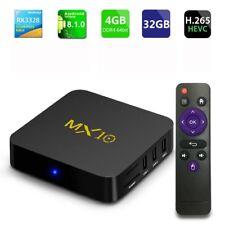 MX10 Android 8.1 Wifi 4GB+32GB RAM TV BOX 18.0 OCTA Core Media Player WIFI UK