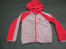 Puma Size 4T Girls Pink Full Zip Hooded Fleece Jacket 536