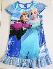 Dress Nightwear Nightdress Robe Disney Frozen Elsa Anna Blue- Size 3 to 10 Years