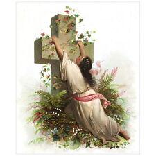 Rock of Ages Deco FRIDGE MAGNET, 1873 Cross Christianity Religious Mini Gift