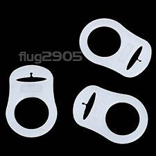 5x Schnullerkette Silikonring für Schnullerclip Schnulleradapter Silikonringe