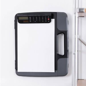 Multifunctional A4 Files Box Document Clipboard Case with Calculator Data Files