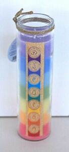 21cm Rainbow chakra  lucky 7 layered eco candle home outdoor decor