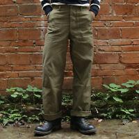 Bronson US Amry 1958 Vietnam War OG107 Utility Fatigue Trousers Baker Pants Men
