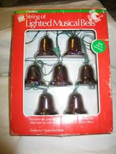 Vintage Christmas Carolites String of Lighted Musical Bells Battery Operated IOB