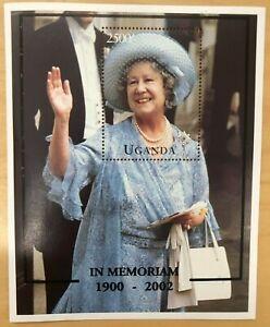 Uganda 2002 - QUEEN MOTHER MEMORIAL - Souvenir Sheet (Scott #1318) - MNH