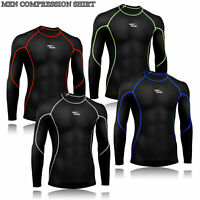 Mens Boys Body Armour Compression Baselayers Thermal Under Shirt Top Skins Yoga