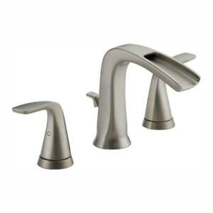 """Delta Tolva 8"""" Widespread 2-Handle Bathroom Faucet Stainless 35724LF-SS-ECO New"""