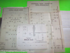 Royal Bowling Alley By United 1957 Original Big Ball Bowling Machine Schematics