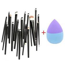 20 Piezas Brocha para maquillaje cosmético Delineador De Ojos Sombra TOOLS +Base