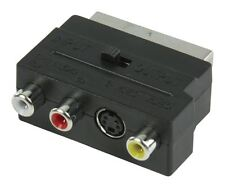Glaxio Switchable SCART AV adapter (SCART male to 3x RCA female +S-Video female)