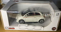 Fiat 500 Nuova White 2007 1/18 Scale Diecast Model Mondo Motors Mint & Boxed