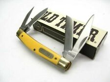 Schrade 44Oty Old Timer Yellow Workmate 4 Blade Folder Folding Pocket Knife