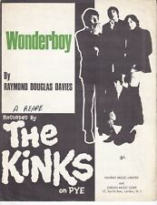 Wonderboy - The Kinks - 1968 Sheet Music