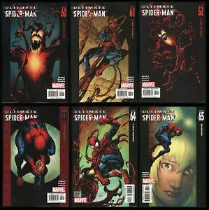 Ultimate Carnage Comic Set 1-2-3-4-5-6 Lot Ultimate Spider-Man 60-61-62-63-64-65
