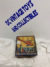 Acme Plastic Helicopter Rotor works when rolled across surface In Box Rare L@k