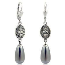 Schnappverschluss Mode-Ohrschmuck mit Perlen (Imitation)