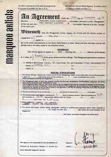 THE WHO REPRO 1965 MARQUEE 21 DECEMBER CONCERT CONTRACT