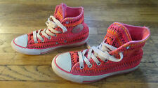 Converse High Tops - All Star Sneakers / Shoes Very Colorful Fabric Size 4
