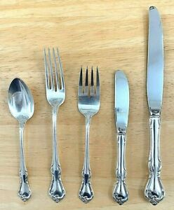 Reed & Barton Rose Cascade Sterling Silver Five (5) Piece Setting; ~7.6 oz Total