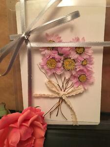 Handmade Christmas Cards - Preserved Immortal Flowers - Precious Flower Edition
