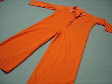 Inmate Jail Prisoner Costume Convict  Orange Prison Longsleeve Jumpsuit XL