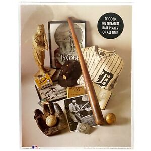 Ty Cobb The Greatest Ball Player of All Time - First Edition Montage Print - New