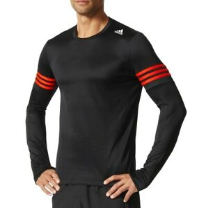 Adidas Response Long Sleeve Men's Running Shirt Running Sports Jumper Black