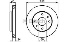 BOSCH Juego de 2 discos freno Antes 256mm ventilado KIA VOLVO S40 0 986 478 531