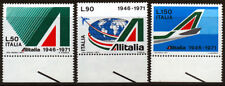REP. IT. 1971 ALITALIA BORDO DI FOGLIO (L) SERIE COMPLETA 3 VAL.