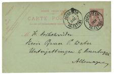 1905 MOUCHON LEVANT 10c ENTIER POSTAL OBL. JERUSALEM LUXE