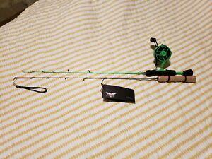 13 Fishing Radioactive Pickle Inline Ice Fishing Combo and Fenwick Fishing Pole