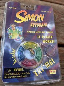New! SIMON GAME KEYCHAIN 1998 VTG 90's Fun 4 All (NEEDS NEW BATTERY) Hasbro